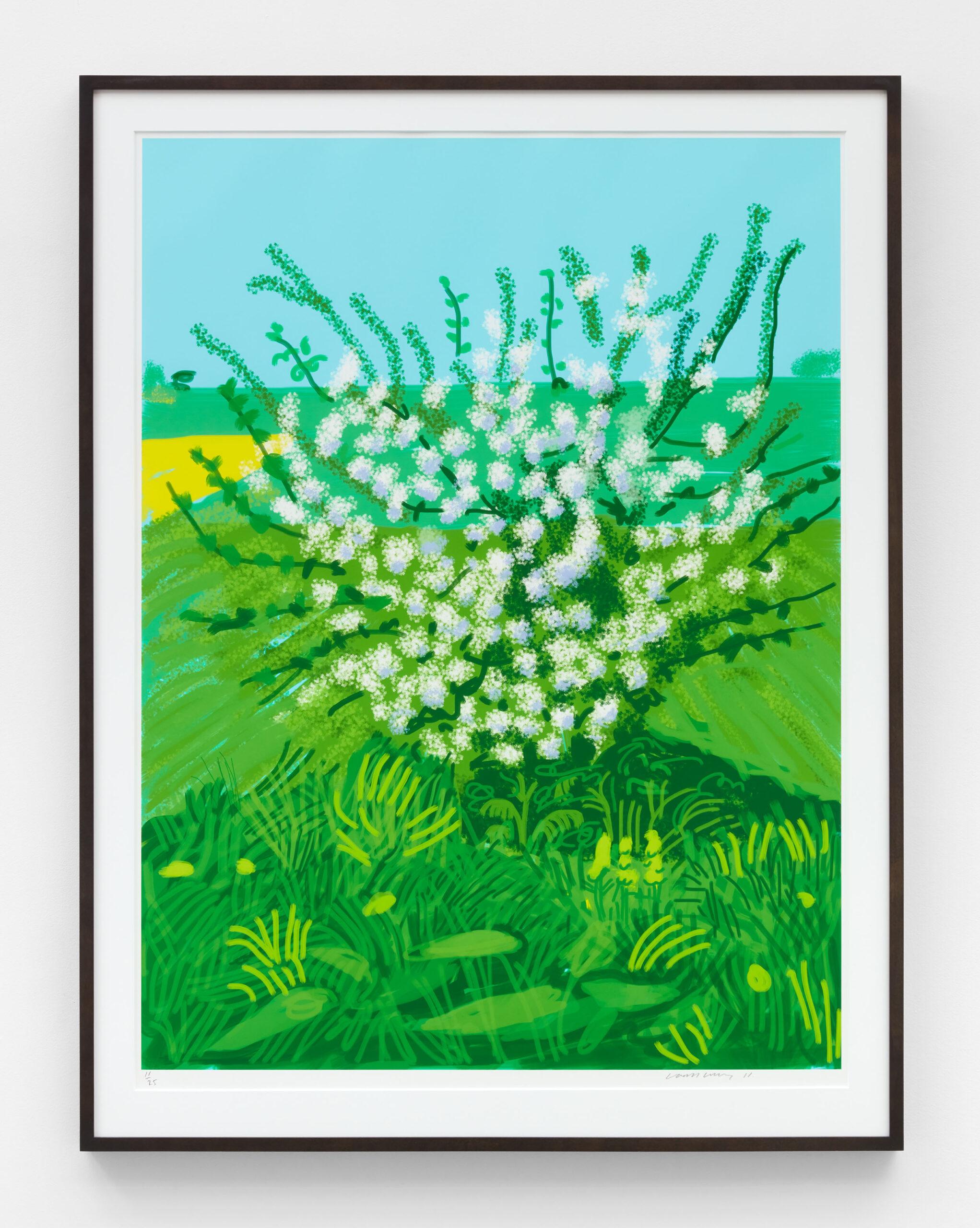 David Hockney The Arrival of Spring in Woldgate, East Yorkshire in 2011(twenty eleven) - 30 April