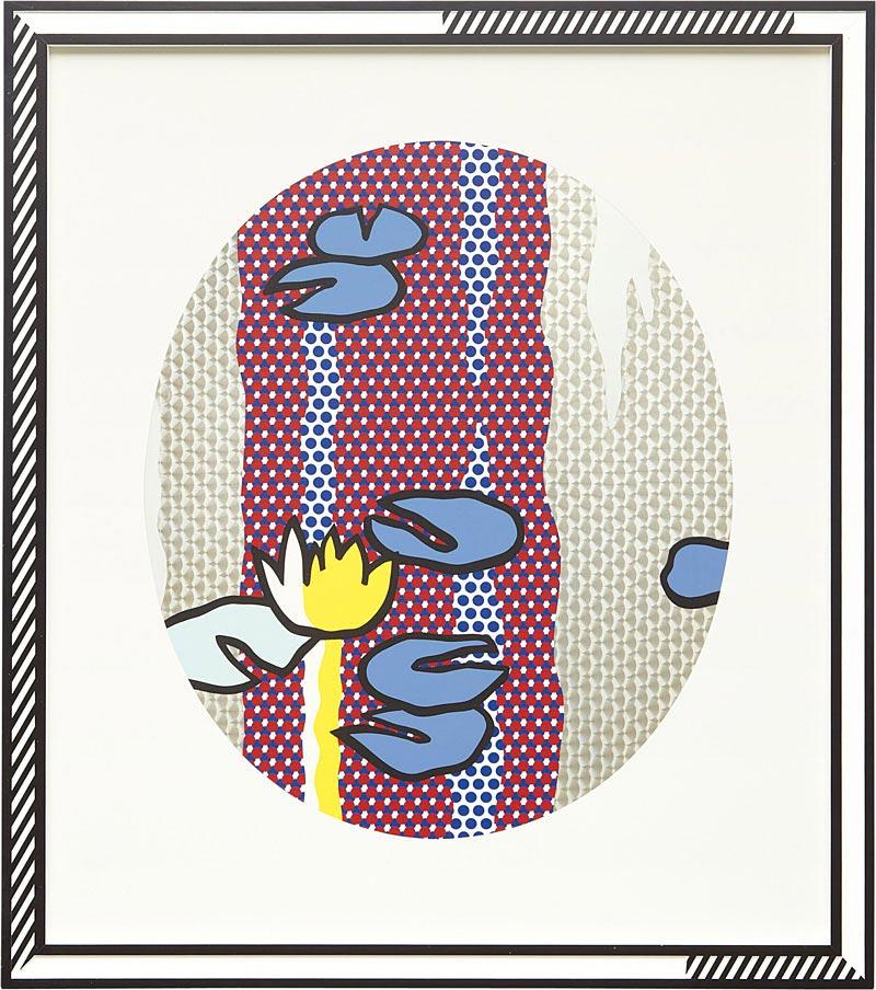 Roy Lichtenstein Water Lilies - Blue Lily Pads