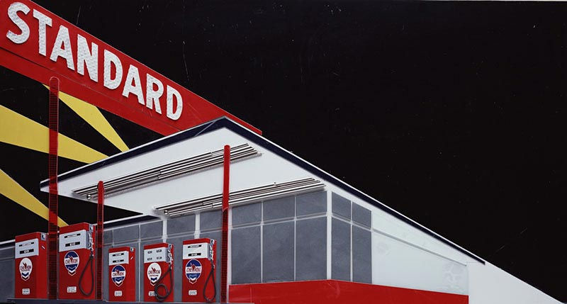 Vik Muniz Standard Station (Night), after Ed Ruscha (Pictures of Cars)