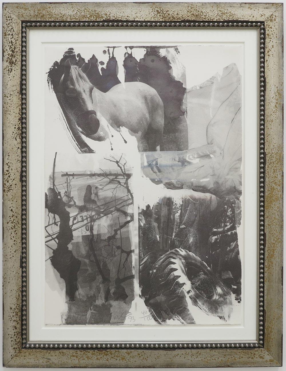 Robert Rauschenberg Horse Silk