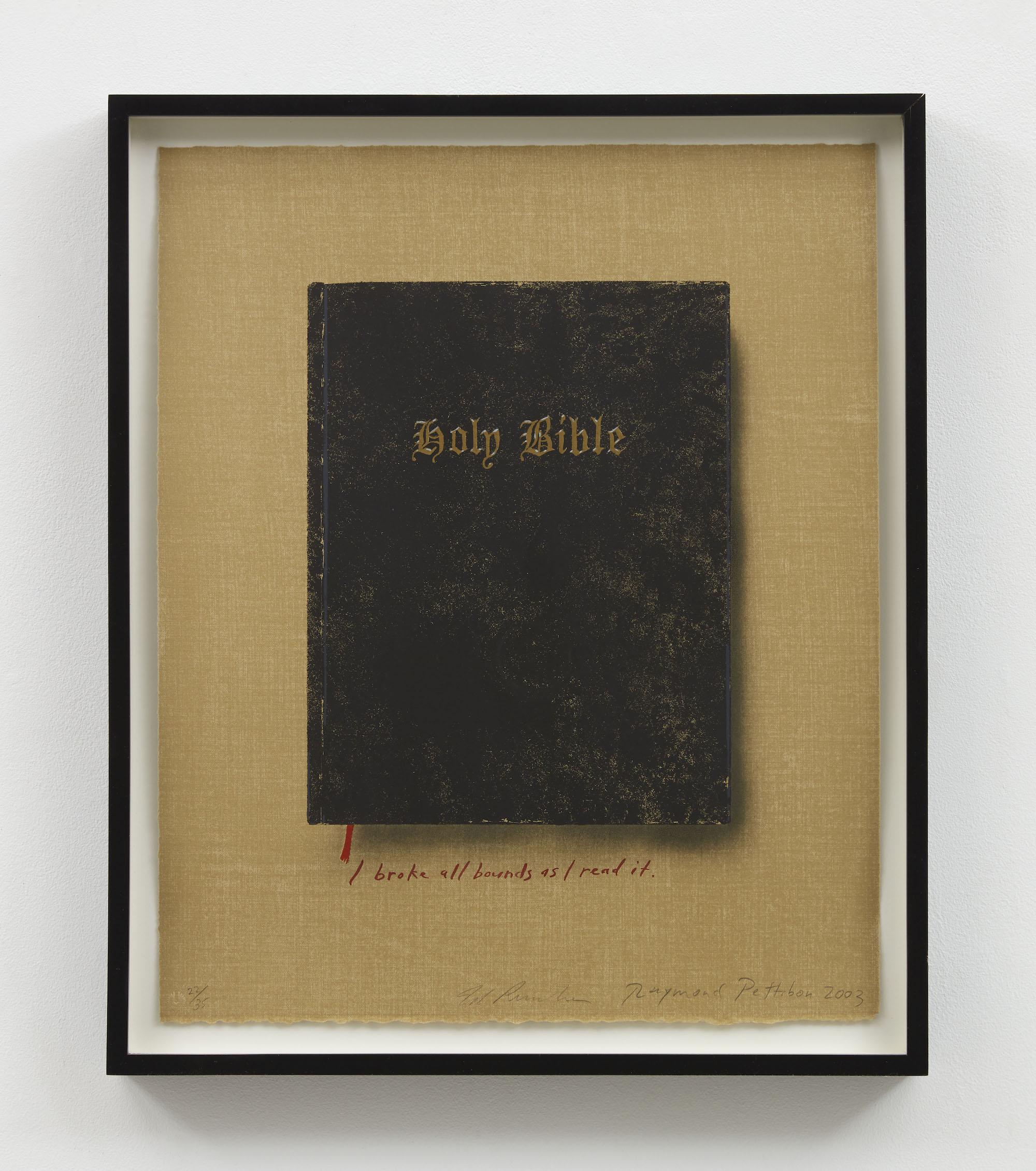 Raymond Pettibon Holy Bible (State II) (I broke all bounds)